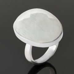 Кольцо лунный камень (адуляр) Индия (серебро 925 пр.) огранка (регулируемый) размер 17