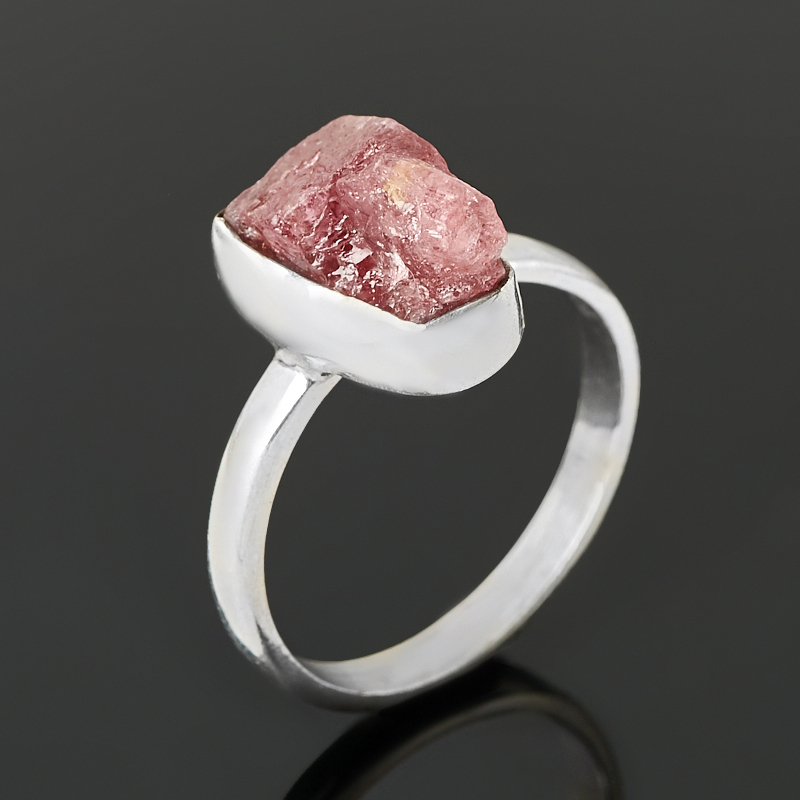 Кольцо турмалин розовый (рубеллит)  (серебро 925 пр.) размер 18,5