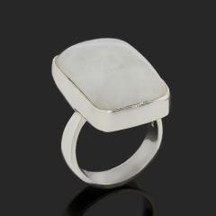 Кольцо лунный камень (адуляр) Индия (серебро 925 пр.) размер 17,5