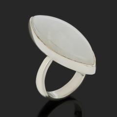 Кольцо лунный камень (адуляр) Индия (серебро 925 пр.) (регулируемый) размер 17