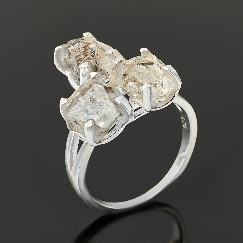 Кольцо кварц с хлоритом (серебро 925 пр.) размер 18
