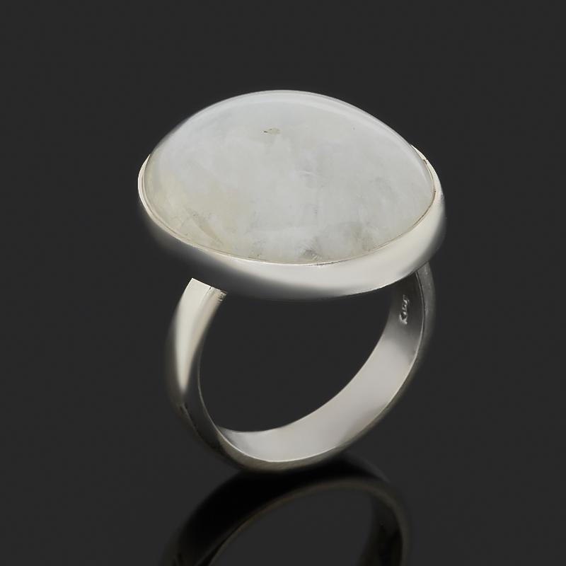 Кольцо лунный камень (адуляр) (серебро 925 пр.) размер 17,5 (регулируемый)