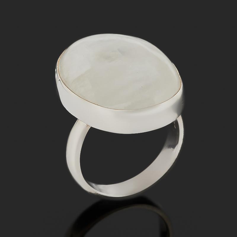 Кольцо лунный камень (адуляр) (серебро 925 пр.) (регулируемый) размер 18