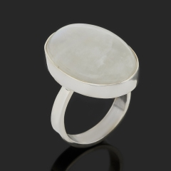 Кольцо лунный камень (адуляр) Индия (серебро 925 пр.) размер 18