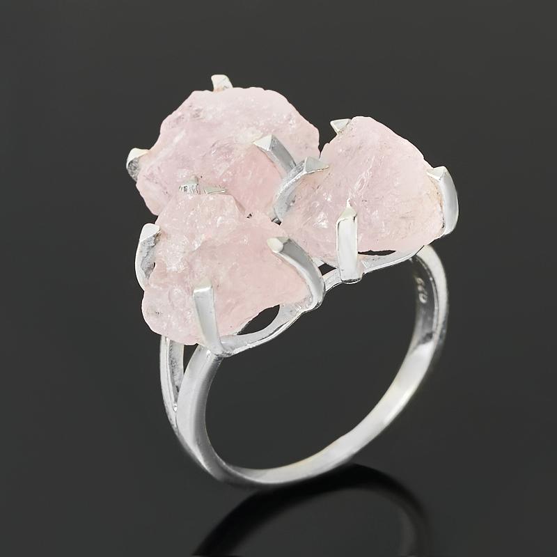 Кольцо берилл розовый (морганит) Бразилия (серебро 925 пр.) размер 17