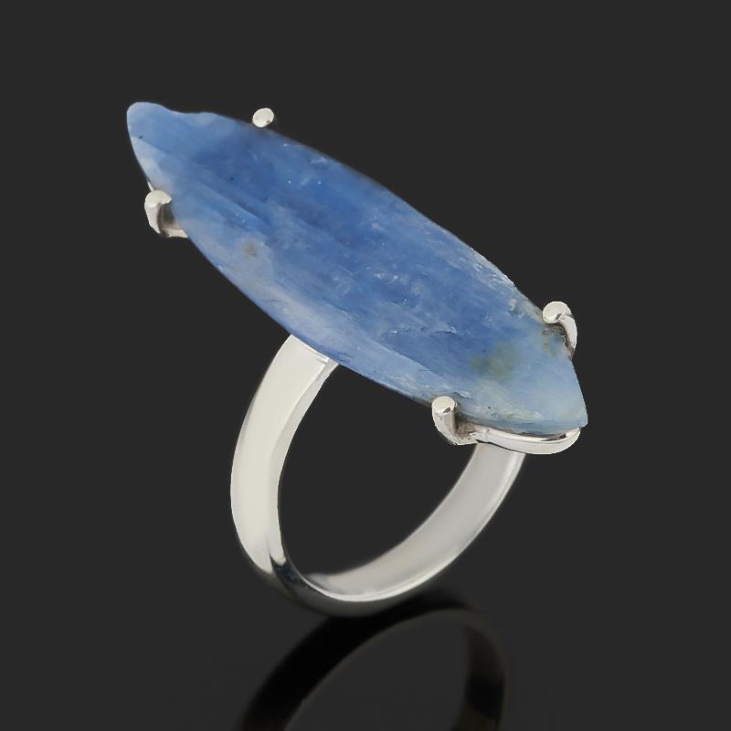 Кольцо кианит синий Бразилия (серебро 925 пр.) размер 17