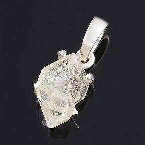 Кулон кварц с хлоритом Бразилия (серебро 925 пр.)