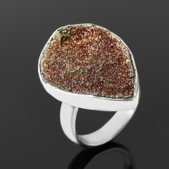 Кольцо спектропирит Россия (серебро 925 пр.) (регулируемый) размер 17,5