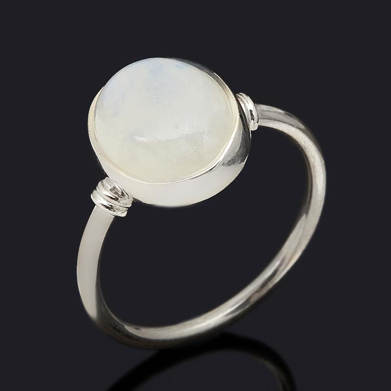 Кольцо лунный камень (адуляр) (серебро 925 пр.) размер 18
