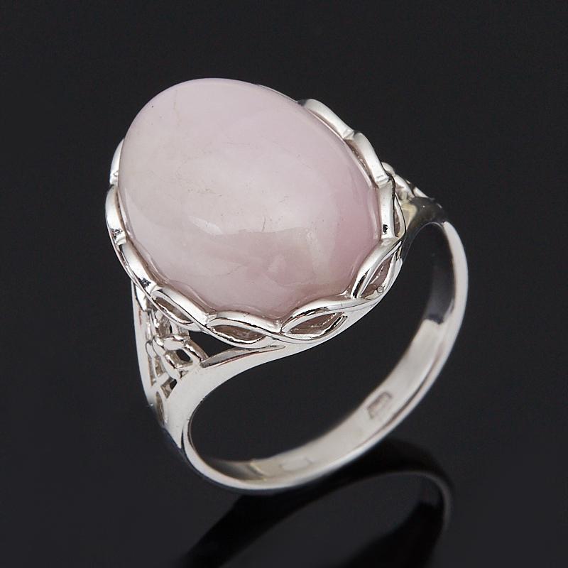 Кольцо опал розовый (серебро 925 пр. родир. бел.) размер 18,5