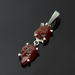 Кулон гранат альмандин Индия (серебро 925 пр.)