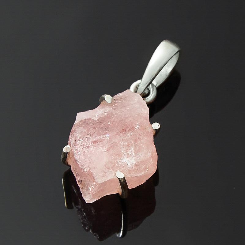 Кулон берилл розовый (морганит) Бразилия (серебро 925 пр.)