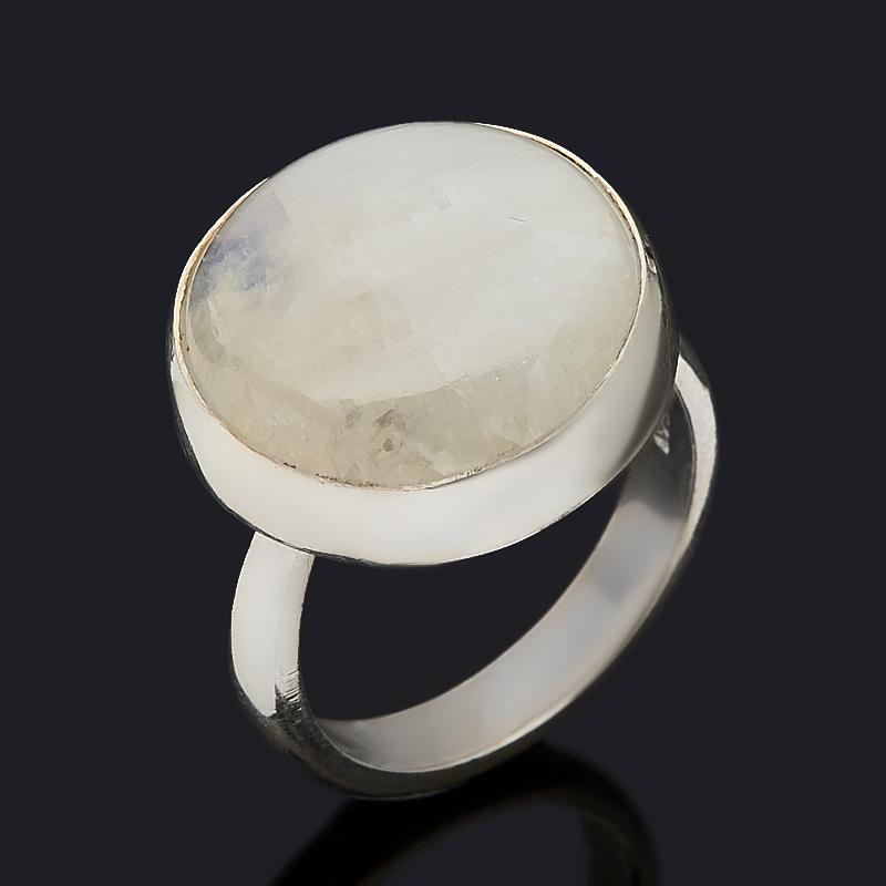 Кольцо лунный камень (адуляр) (серебро 925 пр.) (регулируемый) размер 17