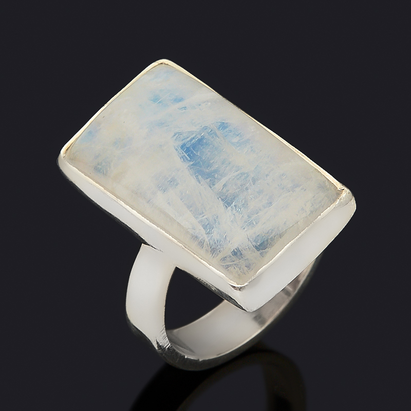 Кольцо лунный камень (адуляр) (серебро 925 пр.) размер 17