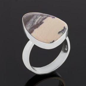Кольцо яшма мраморная ЮАР (серебро 925 пр.) (регулируемый) размер 17,5