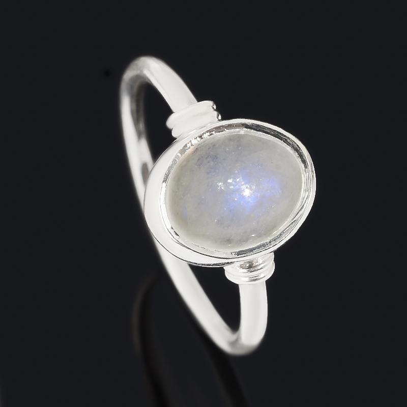 Кольцо лунный камень (адуляр) (серебро 925 пр.) размер 17,5 фото