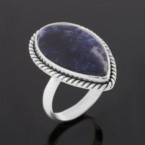 Кольцо содалит Бразилия (серебро 925 пр. оксидир.) (регулируемый) размер 17,5