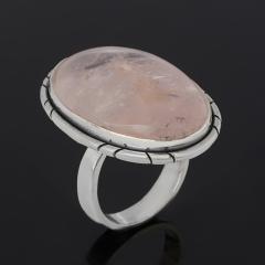 Кольцо розовый кварц Бразилия (серебро 925 пр.) размер 17,5