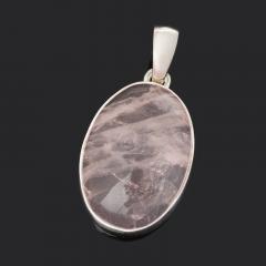 Кулон розовый кварц Бразилия (серебро 925 пр.) овал
