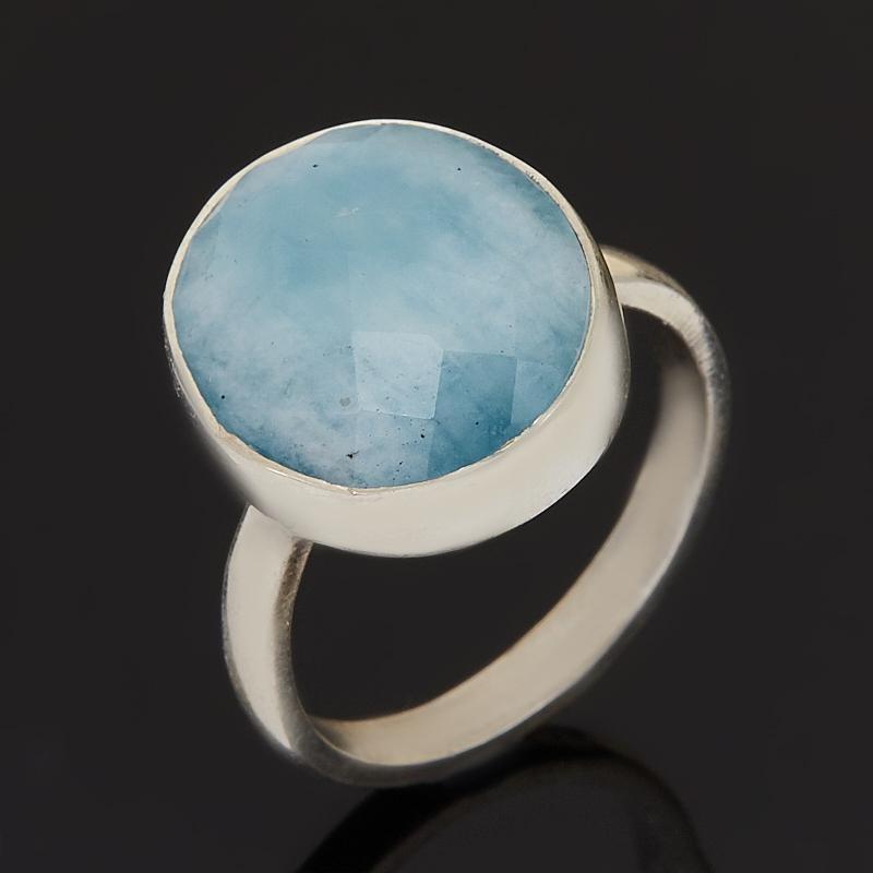 Кольцо аквамарин (серебро 925 пр.) огранка размер 17 фото