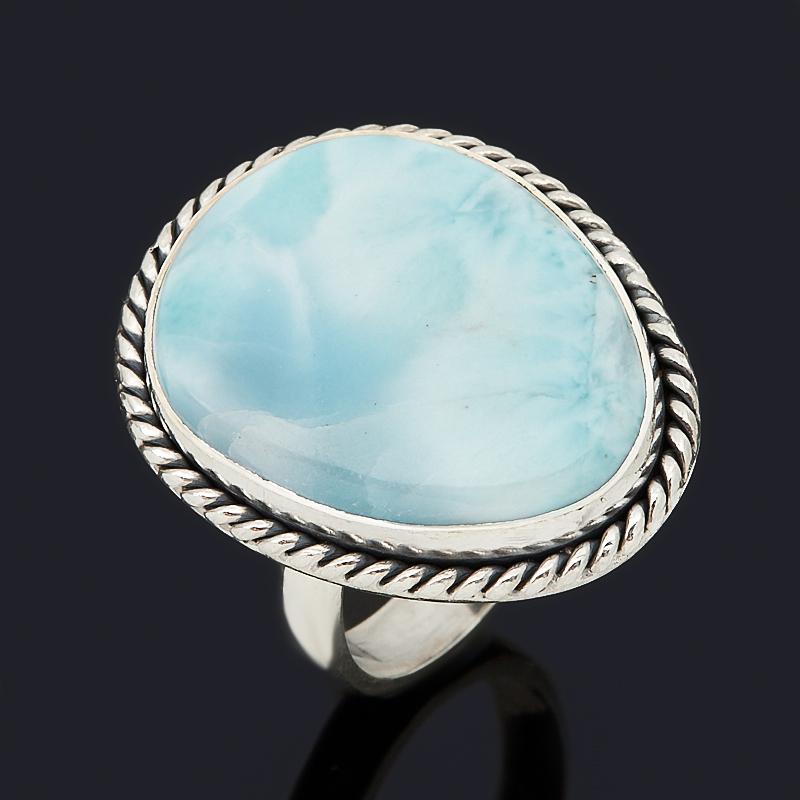 Кольцо ларимар нская Республика (серебро 925 пр. оксидир.) (регулируемый) размер 18
