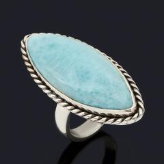 Кольцо ларимар Доминиканская Республика (серебро 925 пр. оксидир.) (регулируемый) размер 17,5