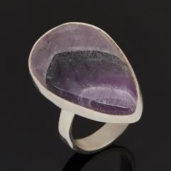 Кольцо аметист Бразилия (серебро 925 пр.) размер 18