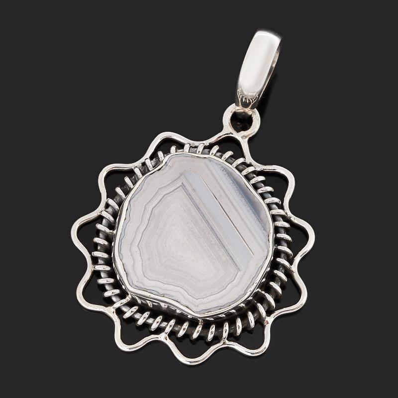 Кулон агат серый (серебро 925 пр. оксидир.) браслет агат серый серебро 925 пр 15 см 5 см