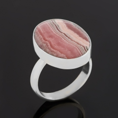Кольцо родохрозит Аргентина (серебро 925 пр.) (регулируемый) размер 17,5
