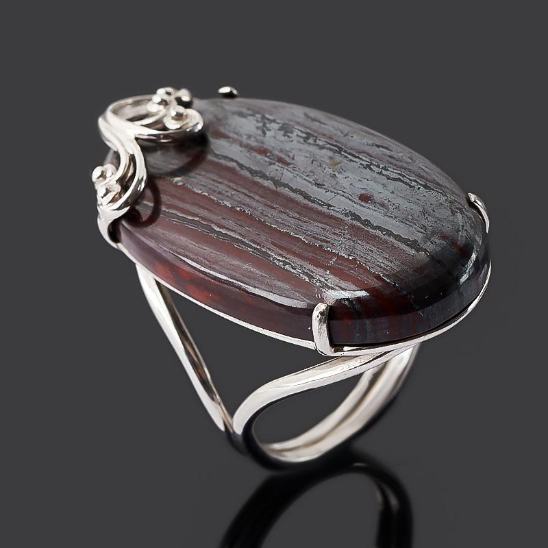 Кольцо гематит (серебро 925 пр. родир. бел.) размер 18