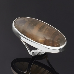 Кольцо флюорит (серебро 925 пр. родир. бел.) (регулируемый) размер 16