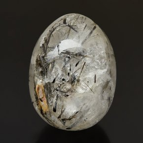 Яйцо кварц с турмалином Бразилия 6,5 см