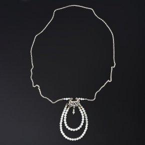 Кулон лунный камень (адуляр) Индия (биж. сплав, сталь хир.) огранка
