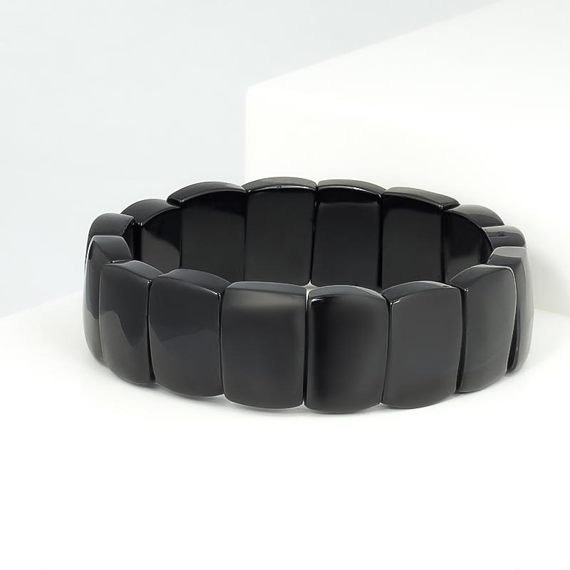 Браслет турмалин черный (шерл) 17 см