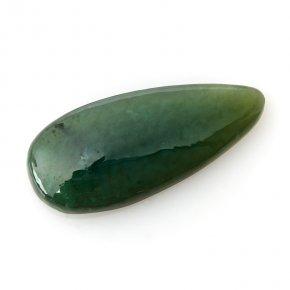 Кабошон нефрит зеленый Россия 16*37,5 мм (1 шт)