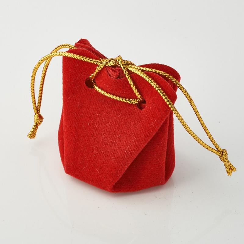 Подарочная упаковка универсальная (мешочек объемный красный) 35х35х40 мм