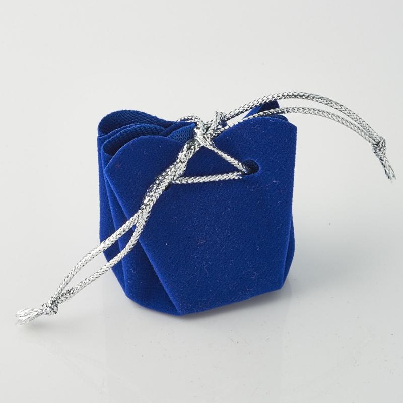 Подарочная упаковка универсальная (мешочек объемный синий) 35х35х40 мм