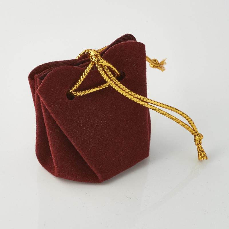Подарочная упаковка универсальная (мешочек объемный бордовый) 35х35х40 мм