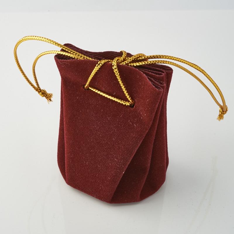 Подарочная упаковка универсальная (мешочек объемный бордовый) 40х40х60 мм