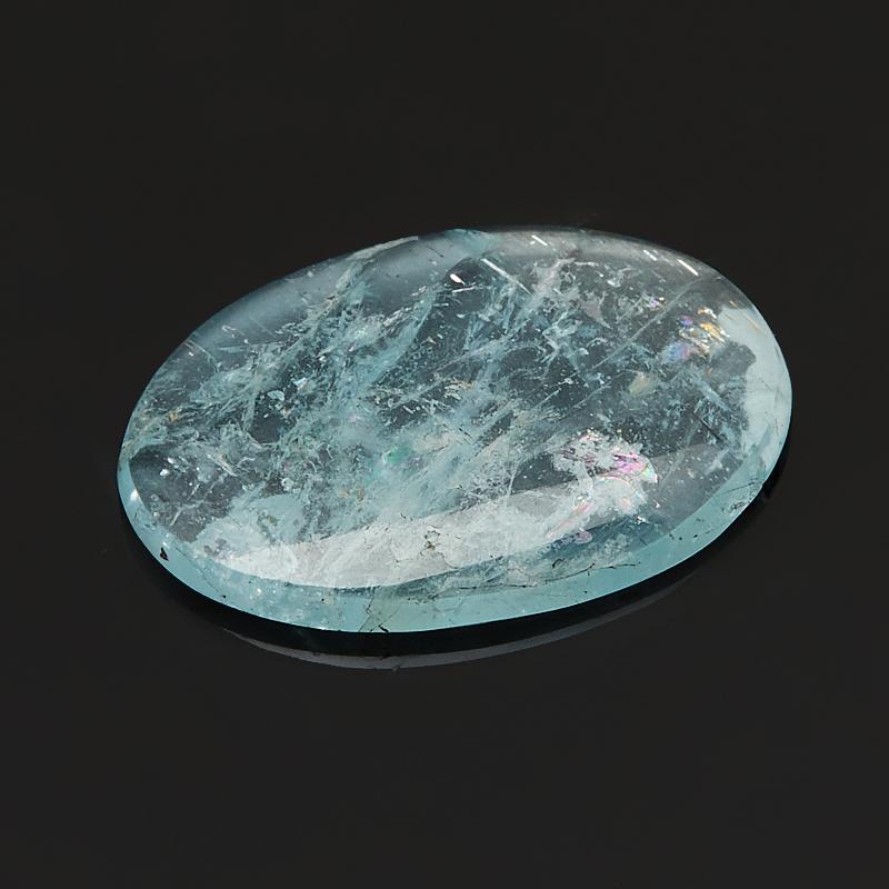 Кабошон аквамарин 12,5*17,5 мм (1 шт)