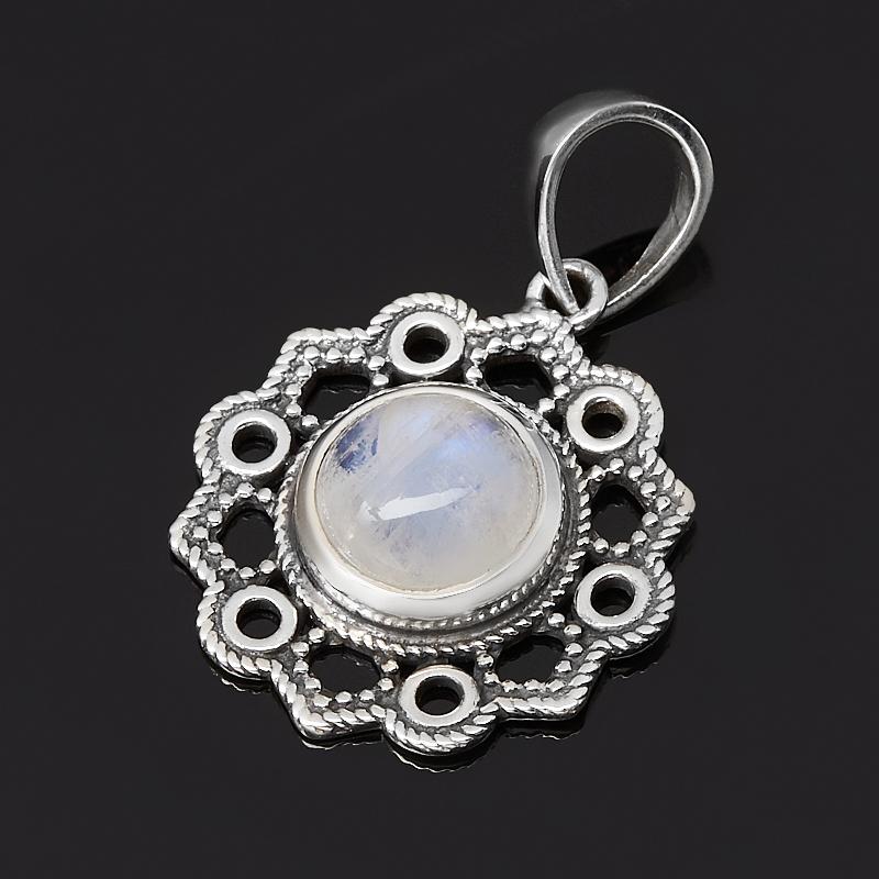 Кулон лунный камень (адуляр) Индия (серебро 925 пр. оксидир.)
