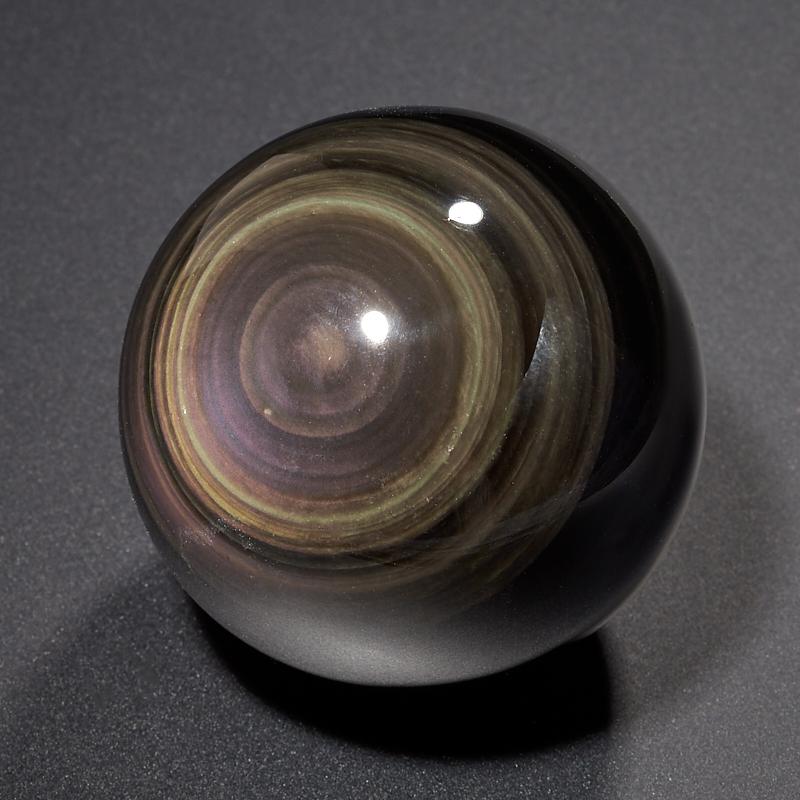 Шар обсидиан радужный 6 см шар матовый серебряный с черными полосками 6 см 6 шт