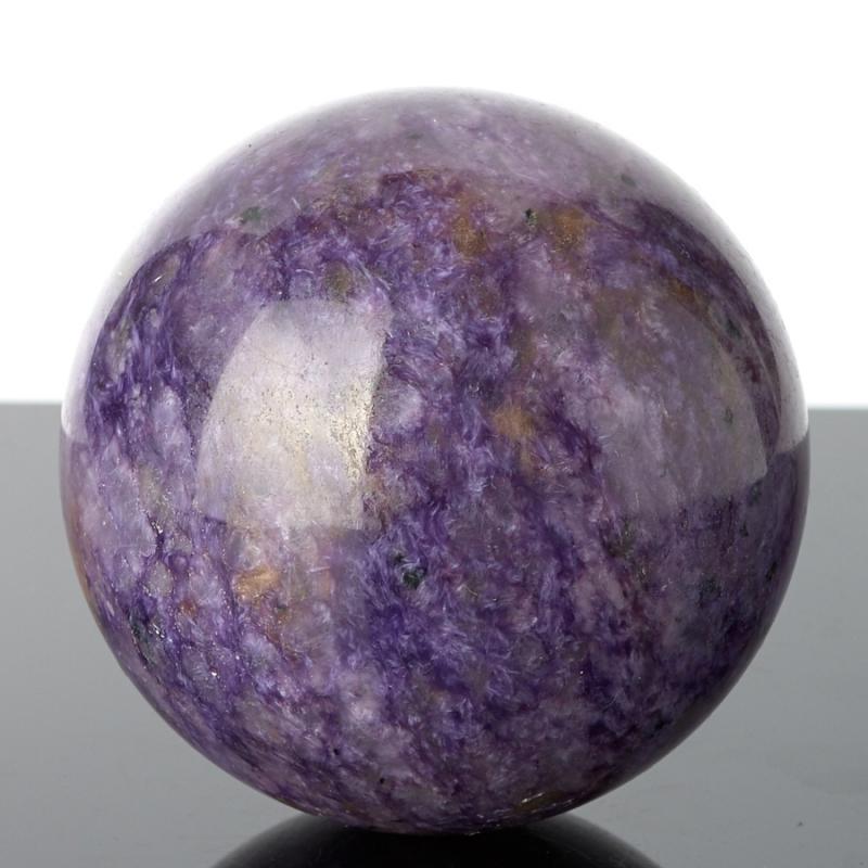 Шар чароит 6 см камни полудрагоценные чароит изделия