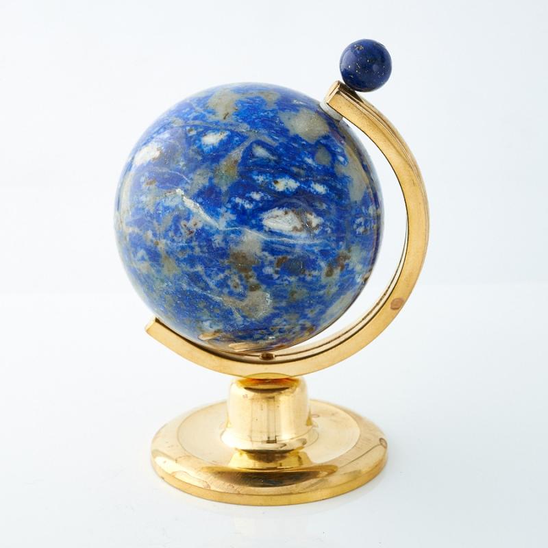 Глобус лазурит Россия (h=8 см)