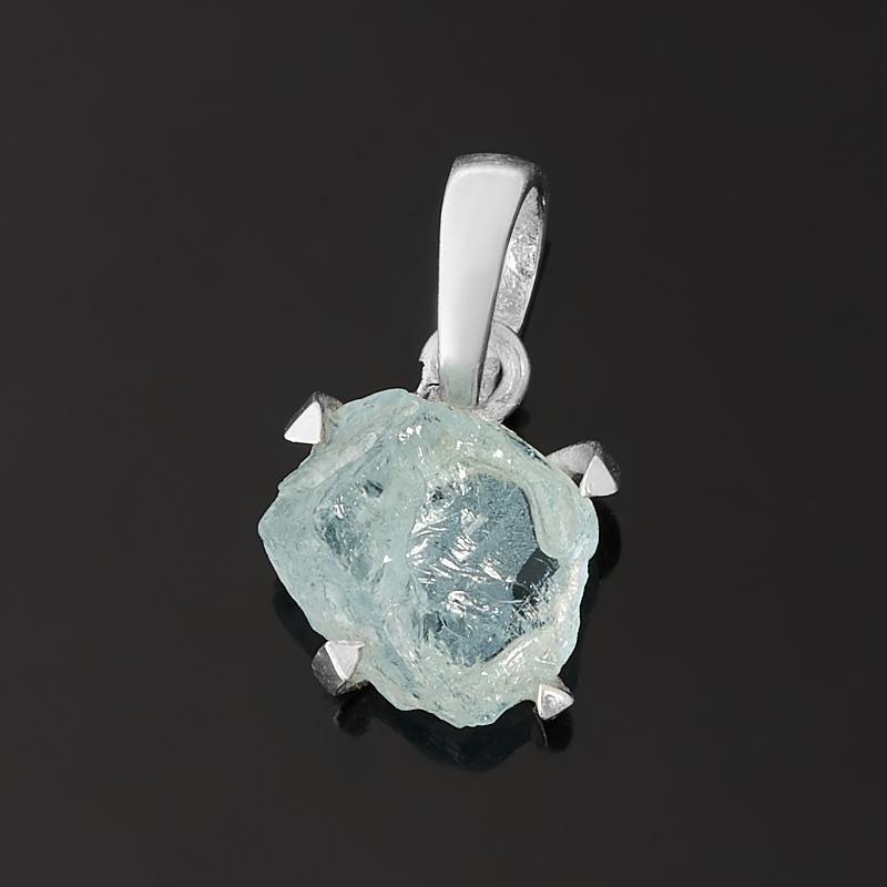 Кулон аквамарин Бразилия (серебро 925 пр.)