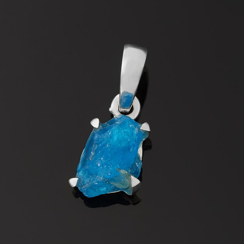 Кулон апатит синий (серебро 925 пр.)