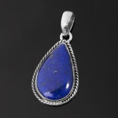 Кулон лазурит Афганистан (серебро 925 пр. оксидир.) капля