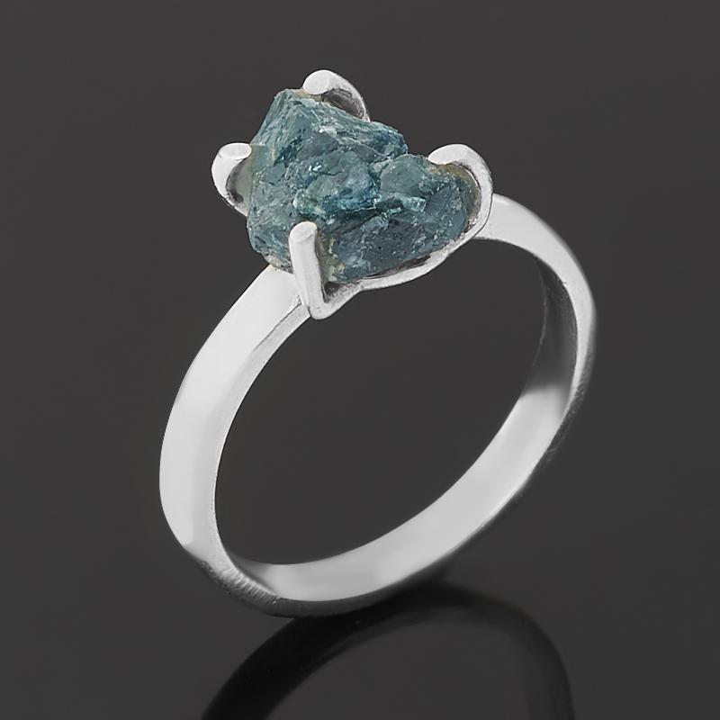 Кольцо турмалин голубой (индиголит)  (серебро 925 пр.) размер 17,5