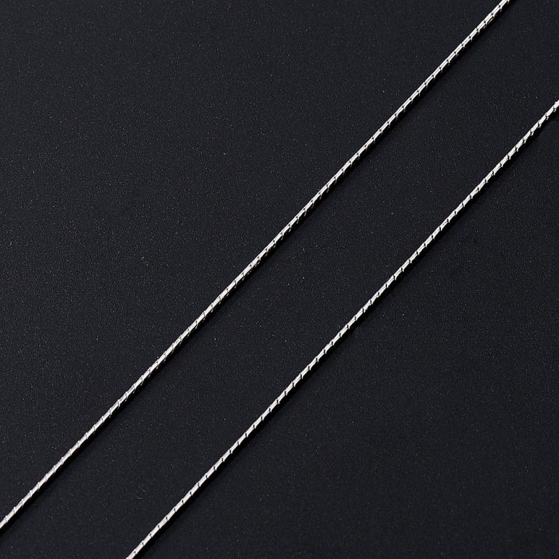 Цепь (серебро 925 пр. родир. бел.) полновесная снейк 45 см Россия