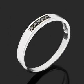 Кольцо бриллиант черный Россия (серебро 925 пр. родир. бел.) огранка (обручальное) размер 19
